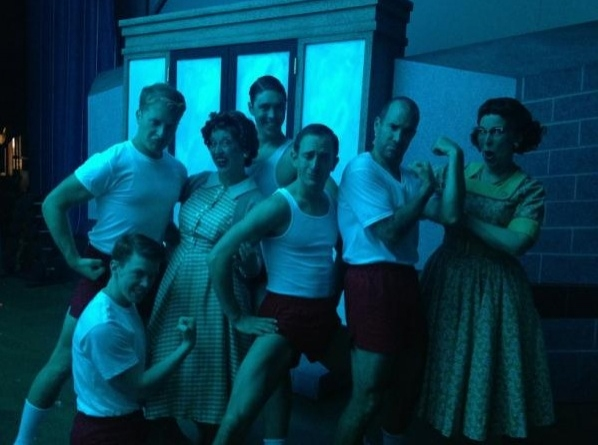 Photo Flash: Saturday Intermission Pics, July 28 - Olympic Tributes from NEWSIES, NICE WORK and More!