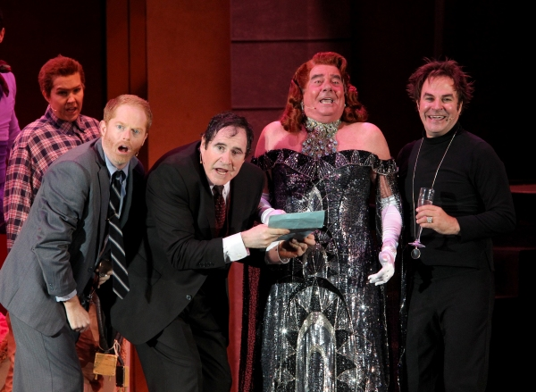Jesse Tyler Ferguson, Richard Kind, Gary Beach and Roger Bart at Jesse Tyler Ferguson, Richard Kind & More in THE PRODUCERS at The Hollywood Bowl, Part 1!