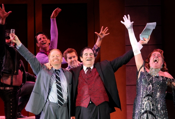 Jesse Tyler Ferguson, Roger Bart, Richard Kind and Gary Beach at Jesse Tyler Ferguson, Richard Kind & More in THE PRODUCERS at The Hollywood Bowl, Part 1!