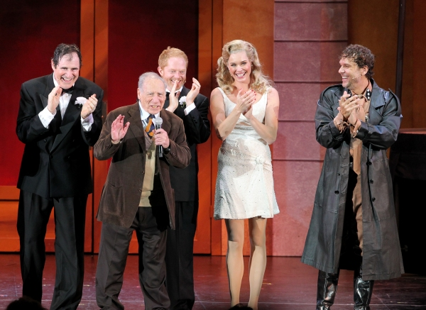 Richard Kind, Mel Brooks, Jesse Tyler Ferguson, Rebecca Romijn and Dane Cook