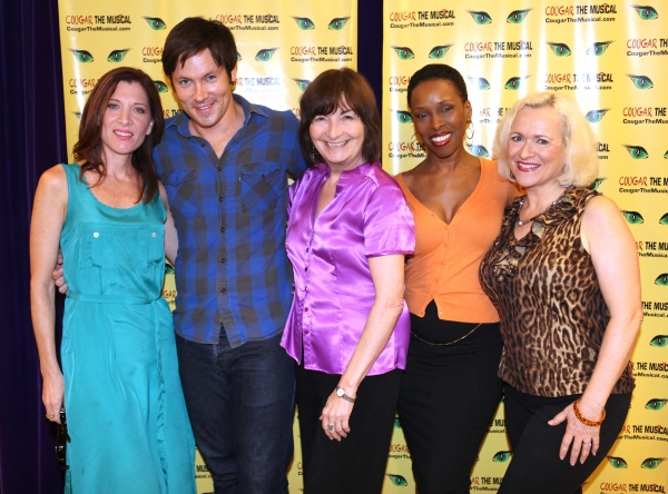Catherine Porter, Danny Bernardy, Director Lynne Taylor-Corbett, Brenda Braxton & Babs Winn  at Meet the Cast of COUGAR THE MUSICAL!