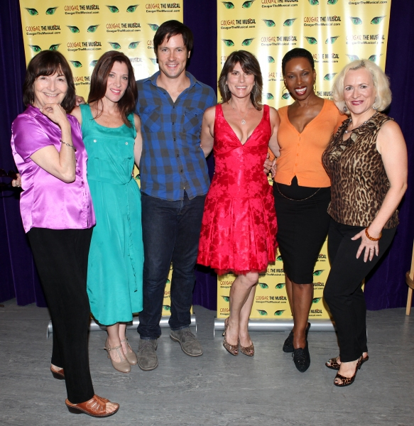 Director Lynne Taylor-Corbett, Catherine Porter, Danny Bernardy, playwright Donna Moore, Brenda Braxton & Babs Winn  at Meet the Cast of COUGAR THE MUSICAL!
