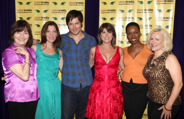 Director Lynne Taylor-Corbett, Catherine Porter, Danny Bernardy, playwright Donna Moo Photo