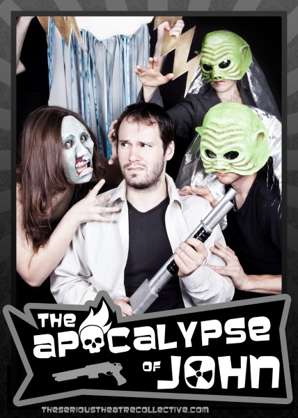 The Cast of THE APOCALYPSE OF JOHN: Michael Mraz as John, Kacie Laforest, Jacob Callie Moore, Erin Salm, Zach Sciranka as Apocalypses