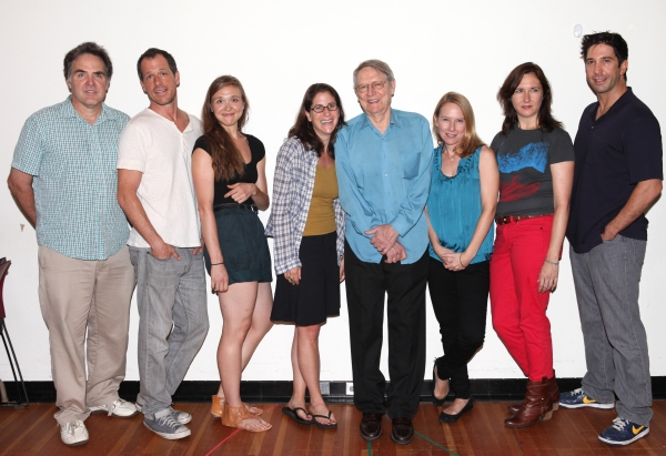 Tim Sanford, Darren Pettie, Sarah Sokolovic, Anne Kauffman, John Cullum, Amy Ryan, Lisa D'Amour and David Schwimmer at In Rehearsal with the Cast of DETROIT!