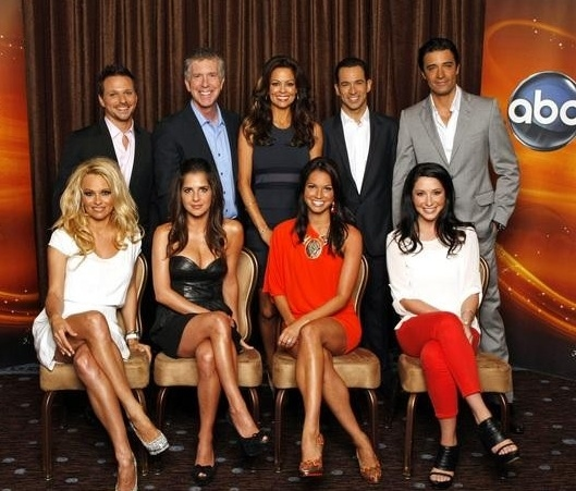 Pamela Anderson, Drew Lachey, Kelly Monaco, Tom Bergeron, Brooke Burke-Charvet, Melissa Rycroft, Helio Castroneves, Bristol Palin, Gilles Marini at First Look - Cast of DANCING WITH THE STARS - All-Star Edition