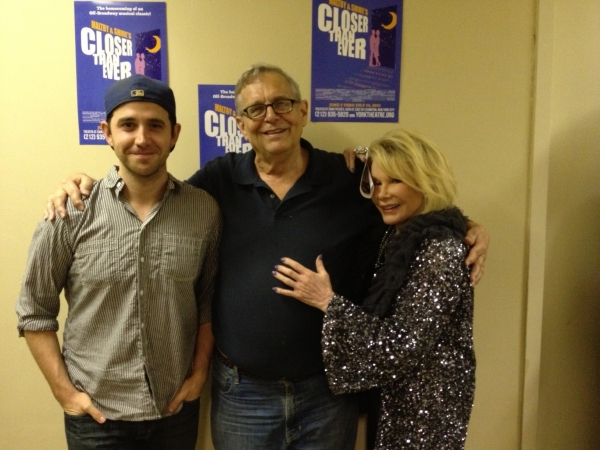 Santino Fontana, Richard Maltby, Jr and Joan Rivers  at Santino Fontana and Joan Rivers Visit CLOSER THAN EVER