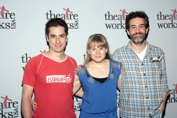 Matthew Saldivar, Celia Keenan-Bolger, Kevin Del Aguila at PETER AND THE STARCATCHER Cast Visits SKIPPYJON JONES!