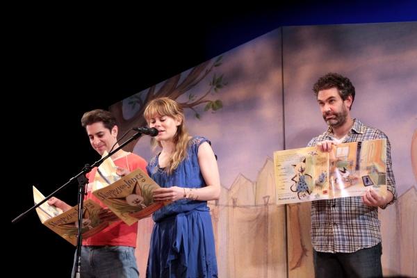Matthew Saldivar, Celia Keenan-Bolger, Kevin Del Aguila at PETER AND THE STARCATCHER Cast Visits SKIPPYJON JONES!