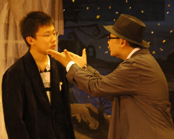 Alex Chi as Colonel Mustard and David Ding as Mr. Stapleton