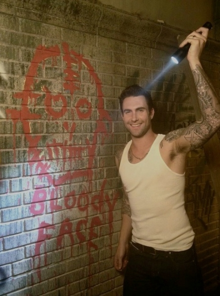 Adam Levine at First Look - Adam Levine on the Set of AMERICAN HORROR STORY