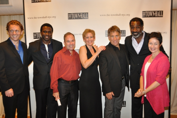 Jason Danieley, Joshua Henry, Stephen Flaherty, Liz Callaway, Stephen Schwartz, Norm Lewis and Lynn Ahrens at Jason Danieley, Joshua Henry, Norm Lewis Perform with Liz Callaway at Town Hall!