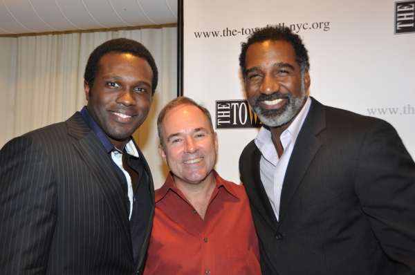 Joshua Henry, Stephen Flaherty and Norm Lewis at Jason Danieley, Joshua Henry, Norm Lewis Perform with Liz Callaway at Town Hall!