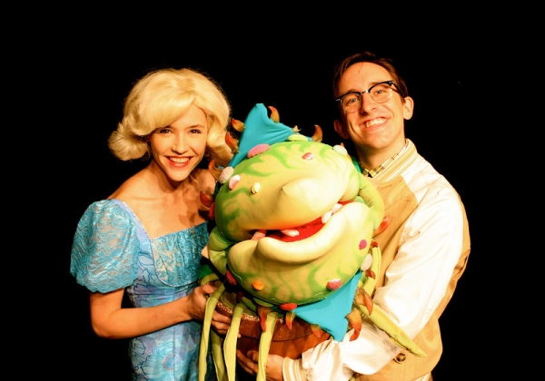 Carolyn Agan and James Gardiner at First Look at James Gardiner, Carolyn Agan & More in Olney's LITTLE SHOP OF HORRORS