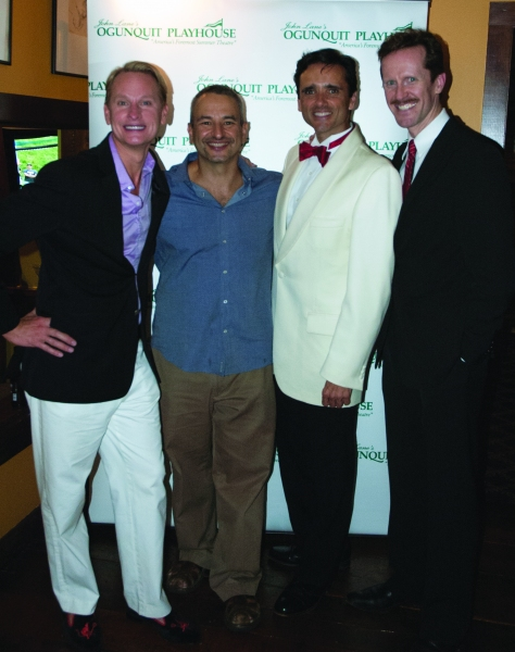 Carson Kressley with Joe DiPietro, Bradford Kenney and Jeffry Denman at Carson Kressley with Joe DiPietro and More in Ogunquit's DAMN YANKEES