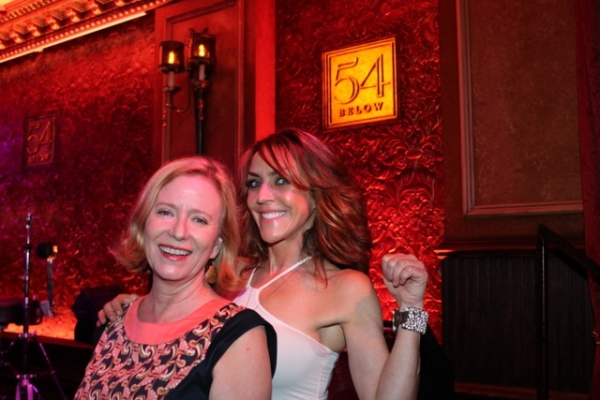 Eve Plumb and Andrea McArdle at Bette Midler, Nathan Lane, and More Visit 54 Below!
