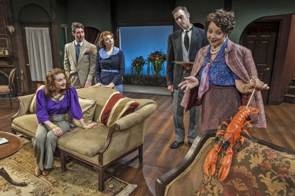Melissa Herion as Henrietta Angkatell, Dylan Schwartz-Wallach as Edward Angkatell, Avery Epstein as Midge Henry, Mark Mason as Gudgeon and Mary Williams as Lady Angkatell