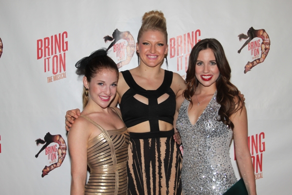 Danielle Carlacci, Brooklyn Alexis Freitag and Nikki Bohne  at The Cast of BRING IT ON Celebrates at the Opening Night Party!