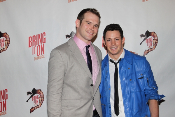 David Ranck and Sheldon Tucker  at The Cast of BRING IT ON Celebrates at the Opening Night Party!