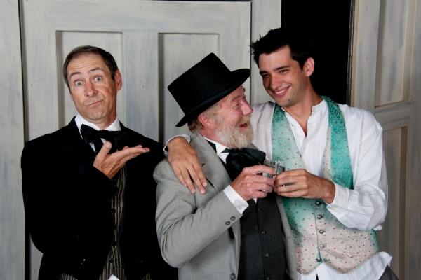 L-R: Leroy Leonard (Osip), Wade Wood (Mayor) and Marcus Turner (Hlestakov)