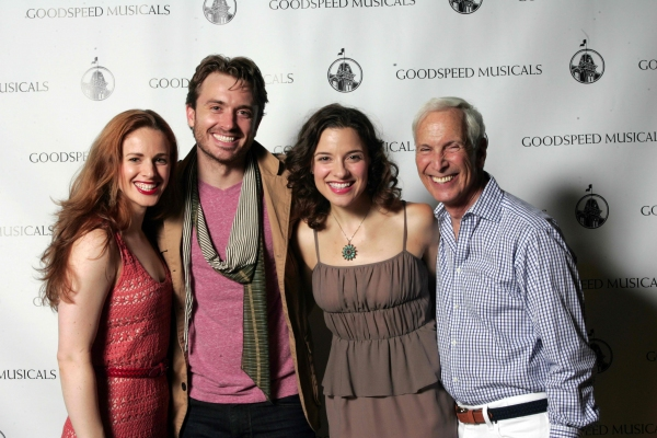 Teal Wicks, James Snyder, Jenn Gambatese and Michael Price at Highlights of Goodspeed's CAROUSEL Opening Night Cast Party