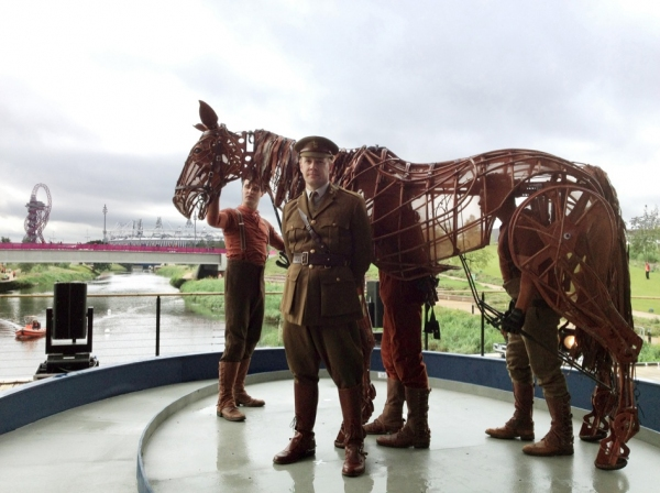 Photo Flash: Cast of WAR HORSE Visits the Olympic Park