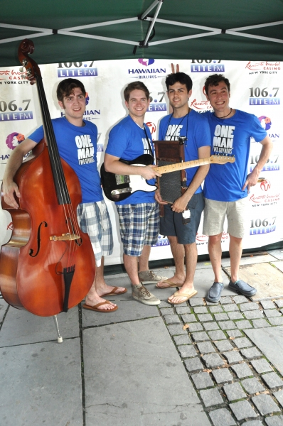 Charlie Rosen, Austin Moorhead, Jacob Colin Cohen and Jason Rabinowitz at MAMMA MIA!, CHAPLIN, and More at Broadway In Bryant Park!