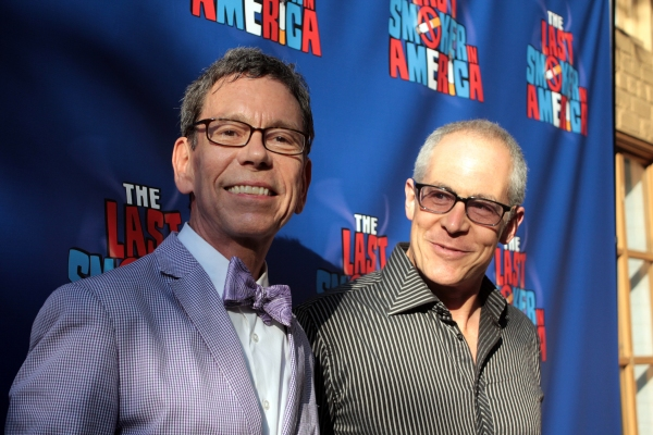 Bill Russell, Peter Melnick at THE LAST SMOKER IN AMERICA Opening- Arrivals and Curtain Call!