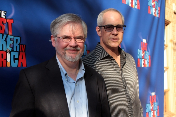 Christopher Durang, Peter Melnick at THE LAST SMOKER IN AMERICA Opening- Arrivals and Curtain Call!