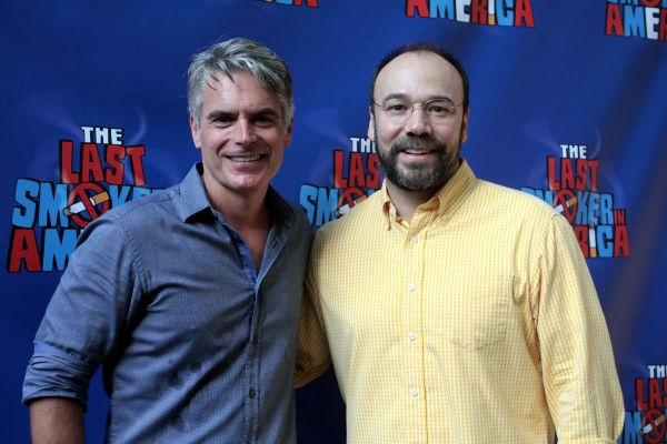 Troy Johnson, Danny Burstein at THE LAST SMOKER IN AMERICA Opening- Arrivals and Curtain Call!