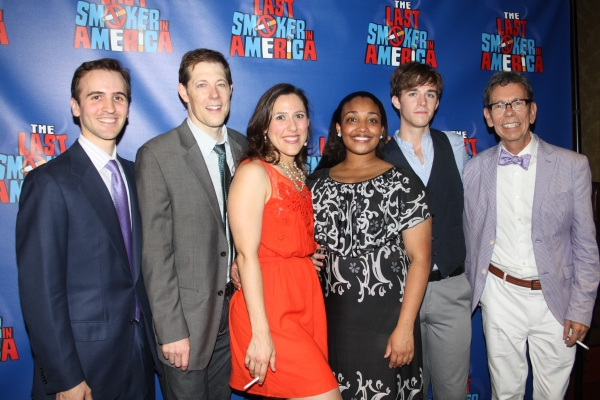 Andy Sandberg, John Bolton, Farah Alvin, Natalie Venetia Belcon, Jake Boyd and Bill Russell at THE LAST SMOKER IN AMERICA- Opening Night After Party!