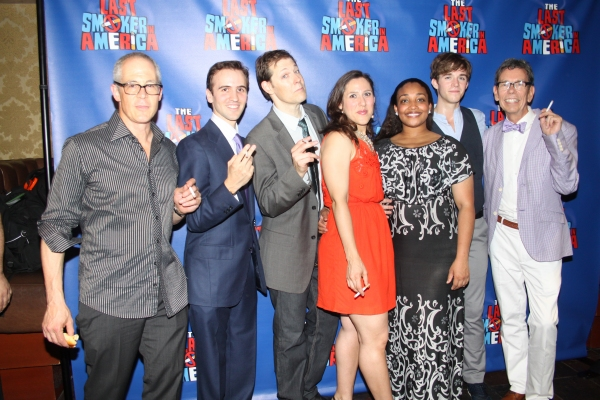 Peter Melnick, Andy Sandberg, John Bolton, Farah Alvin, Natalie Venetia Belcon, Jake Boyd and Bill Russell at THE LAST SMOKER IN AMERICA- Opening Night After Party!