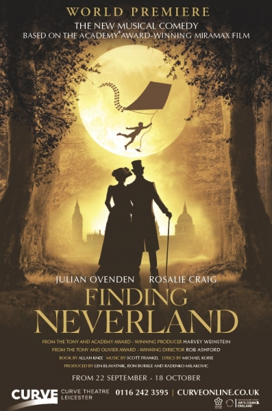 BWW Exclusive Premiere: Official Poster for FINDING NEVERLAND the Musical Starring Julian Ovenden & Rosalie Craig!