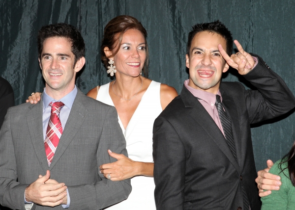 Elly Blankenbuehler and Andy Blankbuehler  with Lin-Manuel