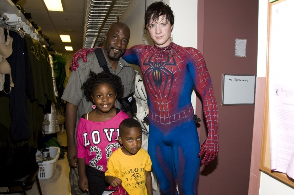 Matthew James Thomas and the St. Bernard Family at Steve St. Bernard Visits SPIDER-MAN!