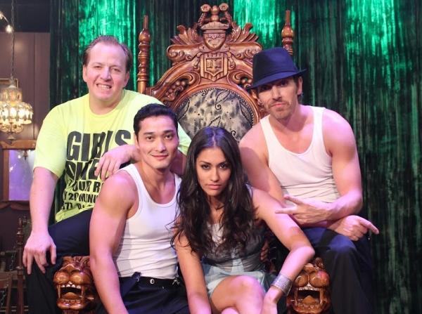 Janina Gavankar with the Cast of ABSINTHE