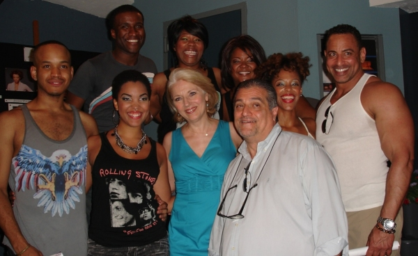 Clyde Voce, Amber A. Harris, Asia Craft, Jillian Walker, Antonio Demarco; (Front row L-R),  Cameron Ross, Cedrina Shari Baugh, (Lady Gaga's parents) Cynthia and Joseph Germanotta