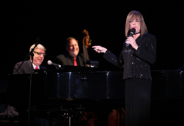 """Marvin Hamlisch & Steven Brinberg aka Barbra Streisandperforming in the All Star Benefit �''Six Degrees of Marvin Hamlisch�'�"""" benefitting The Actors Fund and honoring Broadway Musical Director Fran Liebergall at Symphony Space in New York City.  Octob"""