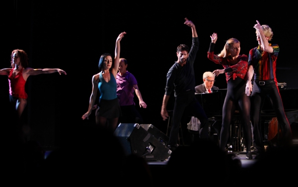 Sammy Williams with the ensemble from A CHORUS LINEperforming in the All Star Benefit ÒSix Degrees of Marvin HamlischÓ benefitting The Actors Fund and honoring Broadway Musical Director Fran Liebergall at Symphony Space in New York City.  October