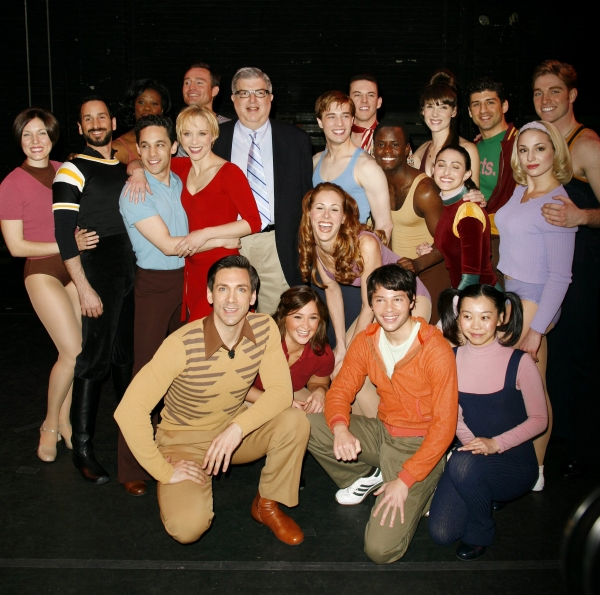 Marvin Hamlisch and Bob Avian with cast members: Michael Berresse, Brad Anderson, Mara Davi, Jeffrey Schecter, Yuka Takara, Michael Paternostro, Charlotte d'Ambroise, Deidre Goodwin, Ken alan, Heather Parcells, James T. Lane, tony Yazbeck, Chryssie Whiteh at Remembering Marvin Hamlisch- Part Two