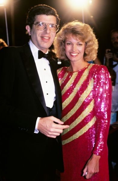 Marvin Hamlisch and Cindy Garvey pictured in New York City in 1984.