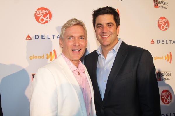 Sam Champion and Josh Elliot   at Nick Adams, Ali Stroker, and More at GLAAD Manhattan!