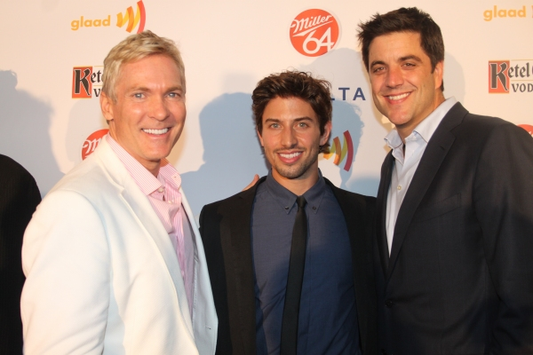 Sam Champion, Nick Adams and Josh Elliot   at Nick Adams, Ali Stroker, and More at GLAAD Manhattan!