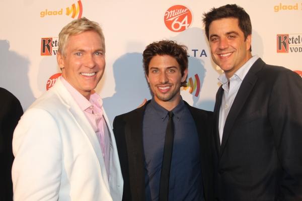 Sam Champion, Nick Adams and Josh Elliot   at Nick Adams, Ali Stroker, and More at GLAAD Manhattan!