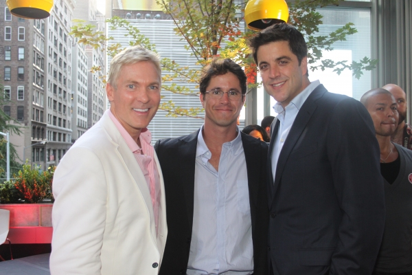 Sam Champion, GLAAD President Herndon Graddick and Josh Elliot
