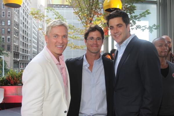 Sam Champion, GLAAD President Herndon Graddick and Josh Elliot