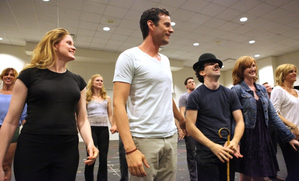 Christiane Noll, Wayne Alan Wilcox, Rob McClure, Erin Mackey & Jenn Colella at In Rehearsal with the Cast of CHAPLIN!