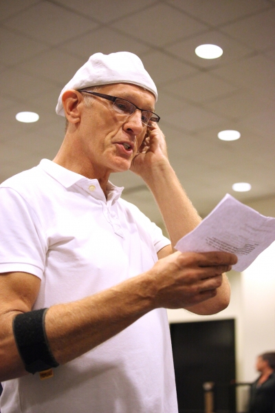 William Ryall at In Rehearsal with the Cast of CHAPLIN!