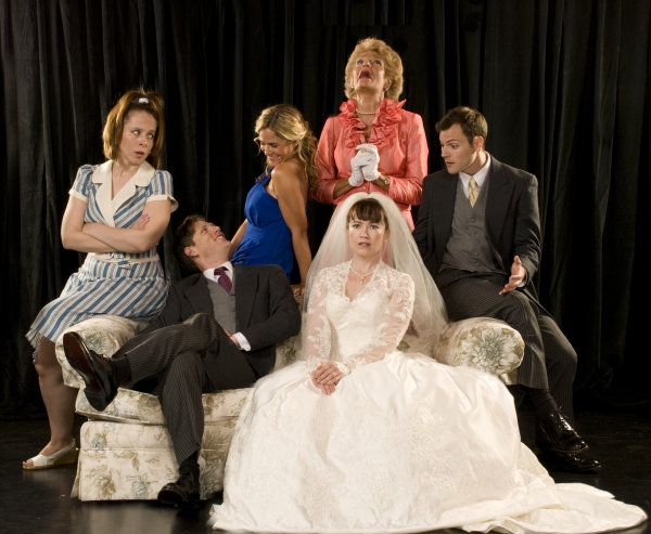 Kate Siepert, Graham Stuart Allen, Jenny Strassberg, Lisa McMillan, Faith Sandberg, and Daryl Embry at Sneak Peek at Florida Studio Theatre's PERFECT WEDDING, Opening Tonight