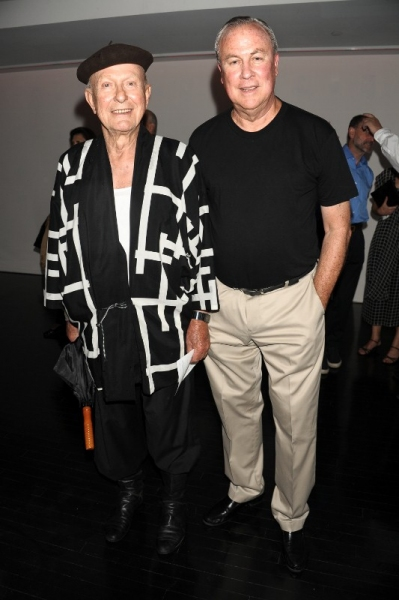 Jack Lenor Larson and Robert Wilson at Inside Watermill Center's BIG BANG Benefit